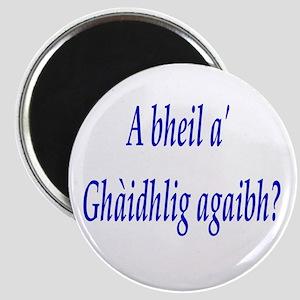 A bheil a' Ghàidhlig agaibh? Magnet