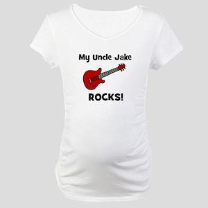 My Uncle Jake Rocks! guitar Maternity T-Shirt