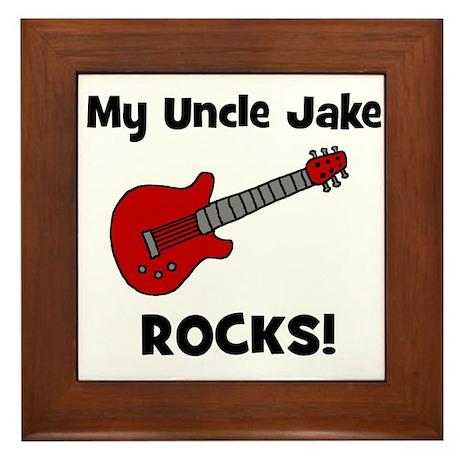 My Uncle Jake Rocks! guitar Framed Tile