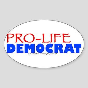 Pro-Life Democrat Oval Sticker