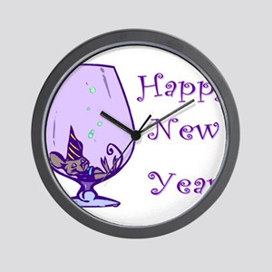 Happy New Year Mouse Wall Clock