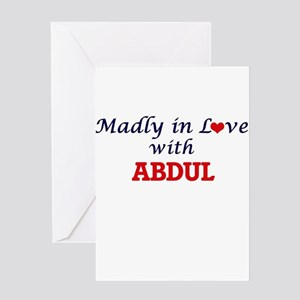 Madly in love with Abdul Greeting Cards