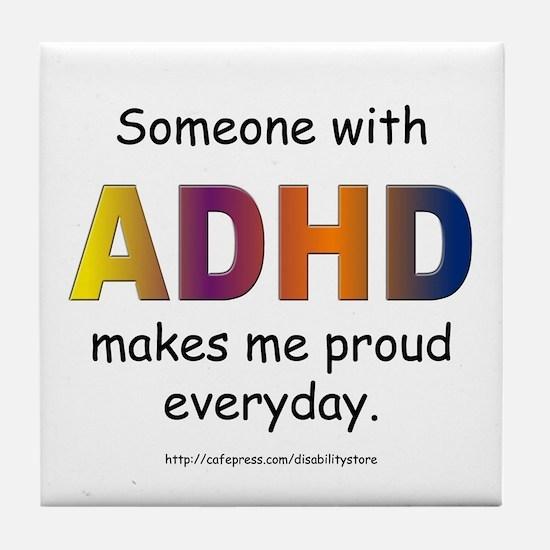 ADHD Pride Tile Coaster