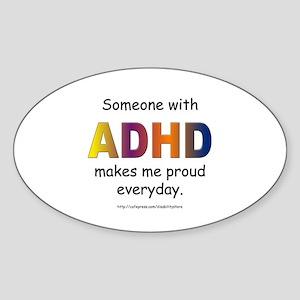 ADHD Pride Oval Sticker