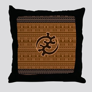 Mudcloth Adinkra Design Throw Pillow