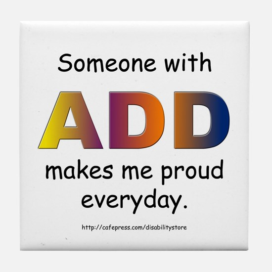 ADD Pride Tile Coaster