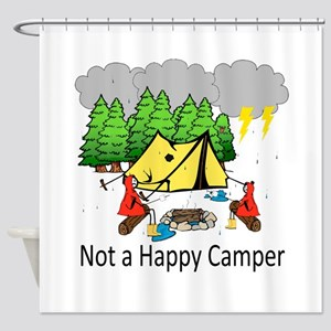Not a Happy Camper Shower Curtain