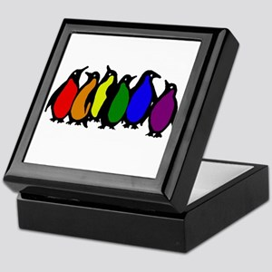 Rainbow Penguins Keepsake Box
