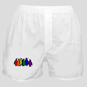 Rainbow Penguins Boxer Shorts