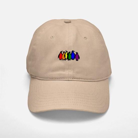 Rainbow Penguins Baseball Baseball Cap