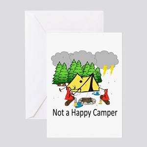 Not a Happy Camper Greeting Cards