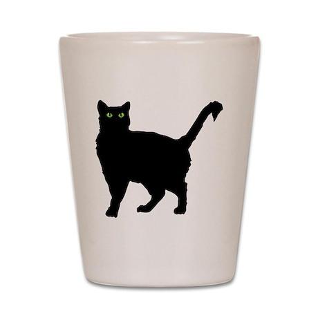 Black Cat Silhouette Shot Glass