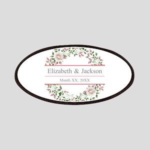 Floral Wreath Wedding Monogram Patch