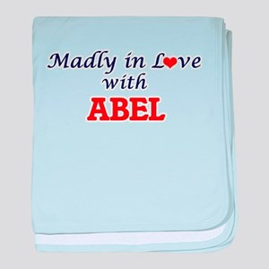 Madly in love with Abel baby blanket