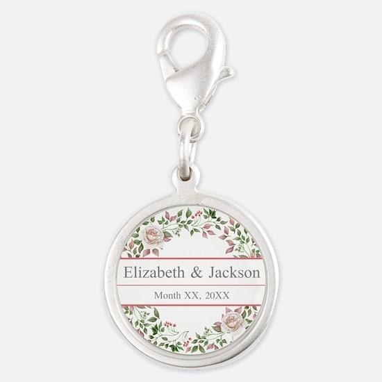 Floral Wreath Wedding Monogram Charms