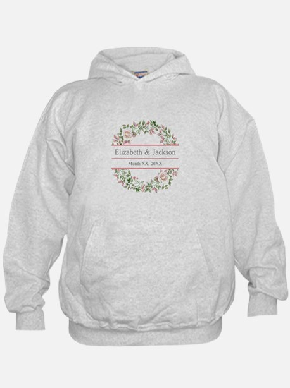 Floral Wreath Wedding Monogram Sweatshirt