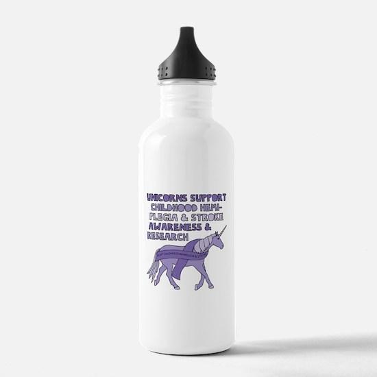 Cute Stroke awareness Water Bottle