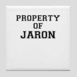 Property of JARON Tile Coaster