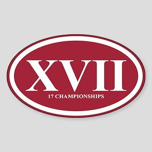 XVII Championships Sticker (Oval)