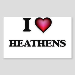 I love Heathens Sticker
