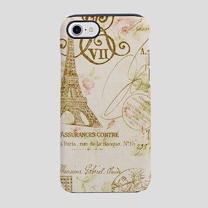 floral paris eiffel tower iPhone 8/7 Tough Case