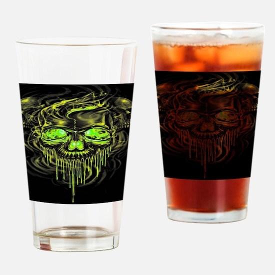 Funny Yellow skull Drinking Glass