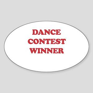 Dance Contest Winner Oval Sticker