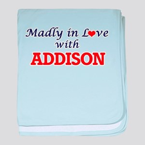 Madly in love with Addison baby blanket