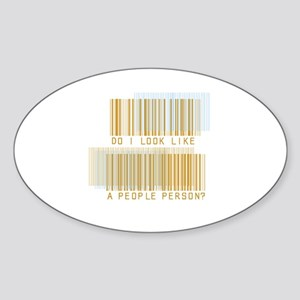 People Person Oval Sticker