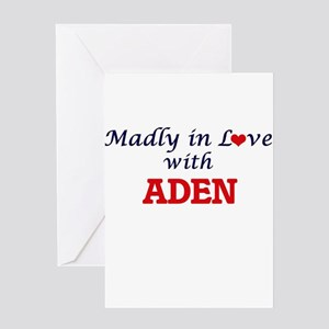 Madly in love with Aden Greeting Cards