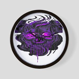 Purple Nerpul Skeletons  Wall Clock