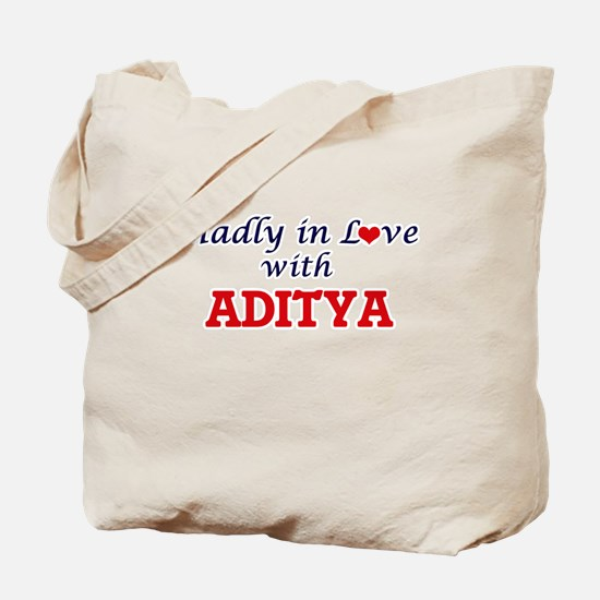Madly in love with Aditya Tote Bag