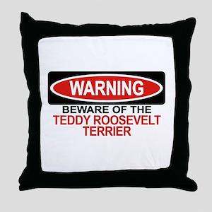 TEDDY ROOSEVELT TERRIER Throw Pillow