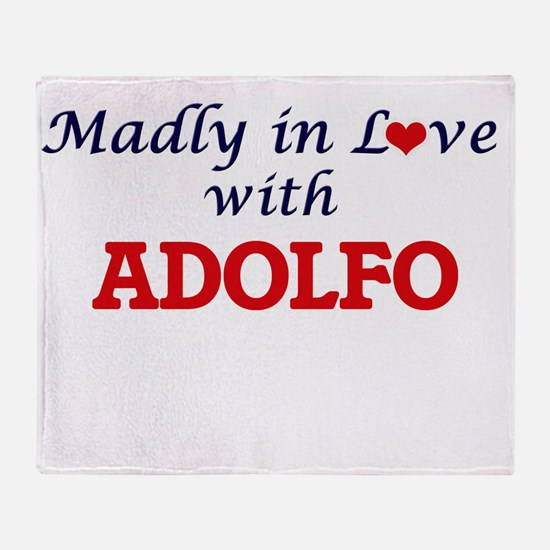 Madly in love with Adolfo Throw Blanket