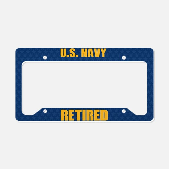 U.S. Navy Reitred License Plate Holder