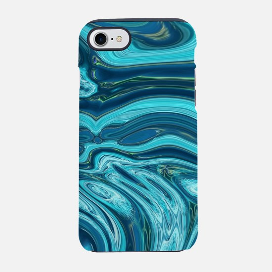 abstract beach turquoise swi iPhone 8/7 Tough Case