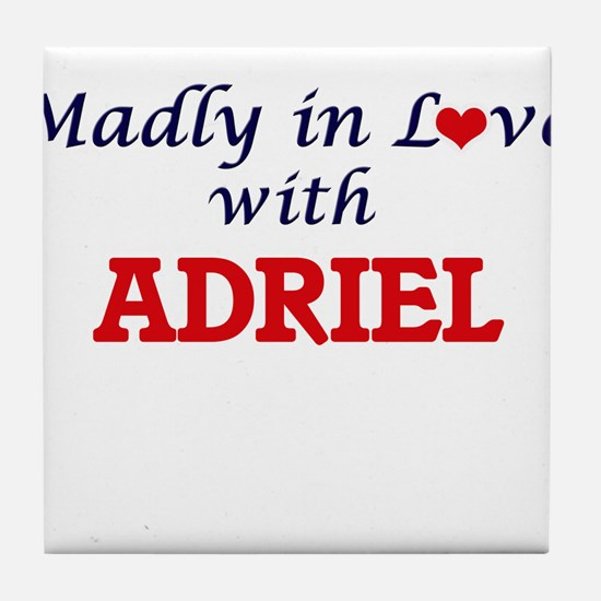 Madly in love with Adriel Tile Coaster