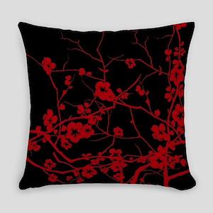 abstract zen plum flower Everyday Pillow