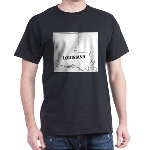 Louisiana State and Date T-Shirt