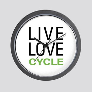 Live Love Cycle Wall Clock
