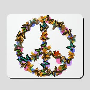Butterflies Peace Sign Mousepad