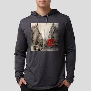 vintage eiffel tower paris art Long Sleeve T-Shirt