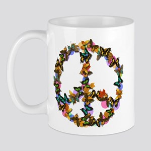 Butterflies Peace Sign Mug