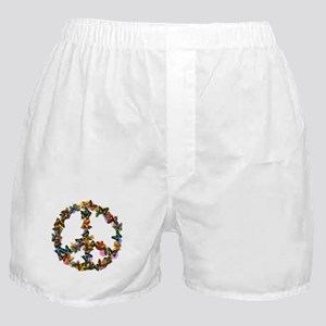 Butterflies Peace Sign Boxer Shorts