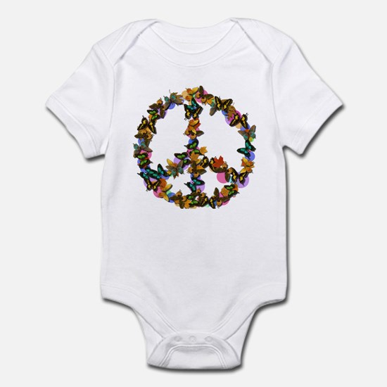 Butterflies Peace Sign Infant Bodysuit