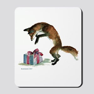 Fox and Present Mousepad
