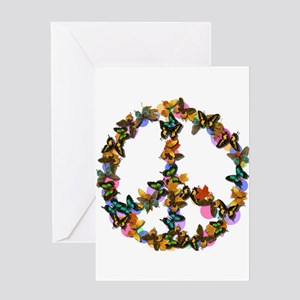 Butterflies Peace Sign Greeting Card