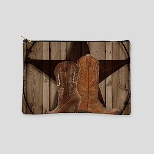 cowboy boots texas star Makeup Bag