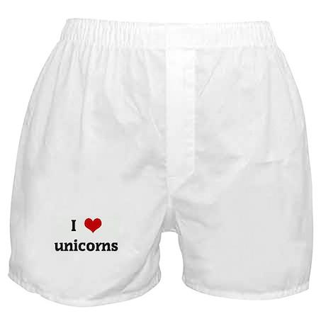 I Love unicorns Boxer Shorts