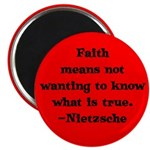 Faith means not wanting to kn Magnet